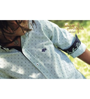 Camisa manga larga Jacquard
