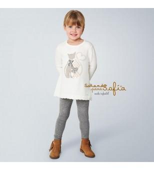 Conjunto leggings tricot...