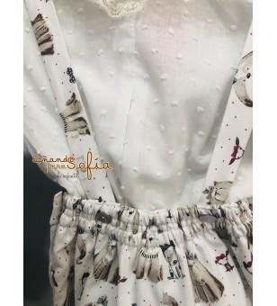 Conjunto de blusa y ranita...